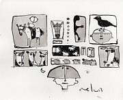 Line Drawings Prints - Fabula No. 1  Print by Mark M  Mellon