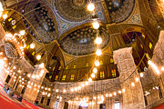 Alabaster Framed Prints - Fabulous Ceiling of the Mosque of Muhammad Ali Framed Print by Mark E Tisdale
