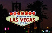Halifax Artists Posters - Fabulous Las Vegas Poster by John Malone