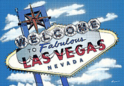 Retro Prints - Fabulous Las Vegas Pop Print by Anthony Ross