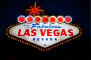 Game Photo Prints - Fabulous Las Vegas Sign Print by Steve Gadomski