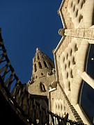 Religious Prints Photo Originals - Facade of Sagrada Familia by Greg Mason Burns