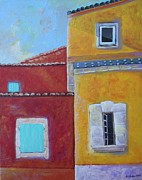 Italian Landscape Mixed Media Prints - Facades Print by Venus