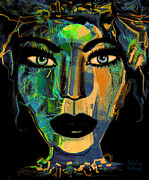 Gorgeous Women Mixed Media Posters - Face 16 Poster by Natalie Holland