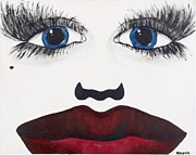 Beauty Mark Painting Framed Prints - Face Framed Print by Abagale Burk