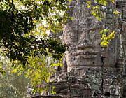 Angkor Thom Prints - Face In The Forest 02 Print by Rick Piper Photography