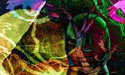 Daydream Art - Face In The Rock Moon Glow and Night Vision by Elizabeth McTaggart