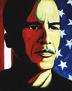 Barack Obama Painting Prints - Face Of Change Print by Lawrence Childress