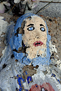 Christian Sacred Originals - Face of Jesus San Jose Cemetery Albuquerque New Mexico 2008 by John Hanou