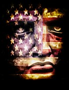 Independence Mixed Media - Face Of Liberty  by Todd and candice Dailey