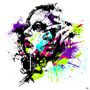 Face Paint 1 Print by Jeremy Scott