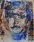 Beauty Mark Mixed Media Prints - Face to Face Print by Marie Rea