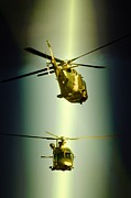 Military Aviation Art Photo Posters - Face to Face Poster by Paul Job