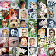 Realism Dogs Art - Facebook Of Faces by Irina Sztukowski