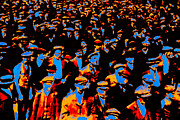 Crowds  Digital Art Prints - Faces In The Crowd - 20130208 Print by Wingsdomain Art and Photography