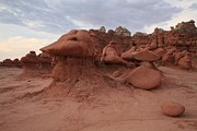 Goblin Valley State Park Prints - Faces In The Goblins Print by Adam Jewell