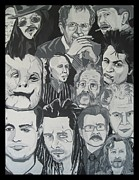 Vicious Painting Prints - faces of Gary Oldman Print by Gary Niles