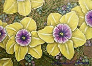 Wall Art Pastels - Faces of Spring   ALL RIGHT RESERVED by Linda Simon