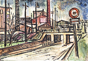 Works Drawings - Factory by Aljo Beran