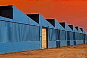 Karen Adams Metal Prints - Factory Building Metal Print by Karen Adams