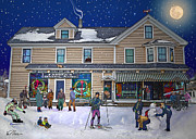 Winter Sports Digital Art Framed Prints - Faddens General Store in North Woodstock NH Framed Print by Nancy Griswold