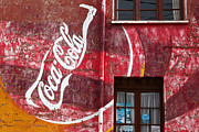 Fizzy Drink Posters - Faded Coca Cola mural 1 Poster by James Brunker