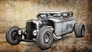 Ford Lowrider Prints - Faded Ford Coupe Print by Steve McKinzie
