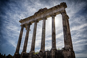 Classical Columns Prints - Faded Glory of Rome Print by Joan Carroll