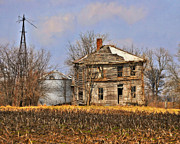 Marty Koch Metal Prints - Fading Farm Metal Print by Marty Koch