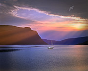 Norwegian Sunset Photo Prints - Fading of the Light Print by Edmund Nagele