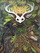 Nature Medicine Paintings - Faerie King by Antony Galbraith