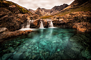 Turquoise Framed Prints - Faerie Pools Framed Print by Matt  Trimble
