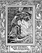 Faerie Drawings - Faerie Queene Illustration Engraving by