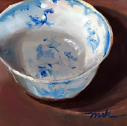 Faience Framed Prints - Faience Bowl Framed Print by Michele Karahalios