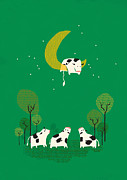 Moon Digital Art Posters - Fail Poster by Budi Satria Kwan