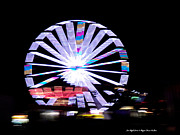 St. Lucie County Prints - Fair Night Ferris Print by Megan Dirsa-DuBois