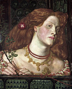 Rossetti Painting Framed Prints - Fair Rosamund  Framed Print by Dante Gabriel Rossetti