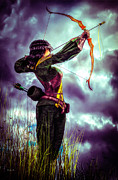 Huntress Prints - Fair Warning Print by Bob Orsillo