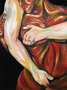 Embrace Paintings - Faire lamour by Louise Blaize