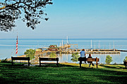 Fairhope Prints - Fairhope Alabama Pier Print by Michael Thomas