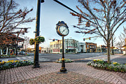 Building Digital Art Originals - Fairhope Clock and 4 Corners by Michael Thomas