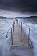 Manley Photo Prints - Fairlight tidal pool Print by Donald Goldney