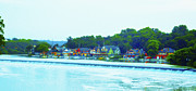 Boathouse Row Philadelphia Prints - Fairmount Dam with Boathouse Row in Philadelphia Print by Bill Cannon