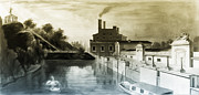 Waterworks Digital Art - Fairmount Waterworks Philadelphia by Digital Reproductions