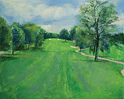 Impasto Oil Paintings - Fairway to the 11th Hole by Michael Creese