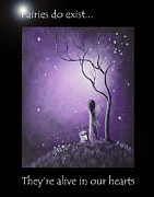 Faery Artists Painting Posters - Fairy Art by Shawna Erback Poster by Shawna Erback