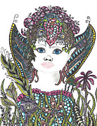 Fairies Drawings Posters - Fairy Child Poster by Dianne Ferrer