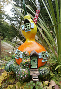 House Sculpture Metal Prints - Fairy House Gourd Metal Print by Gordon Wendling
