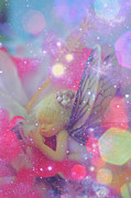 Fairy Dust Framed Prints - Fairy in Fairy Dust Framed Print by Lila Fisher-Wenzel