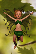 Liam Liberty Acrylic Prints - Fairy in Free-Fall Acrylic Print by Liam Liberty